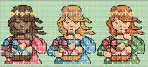 borduurpatroon meisjes