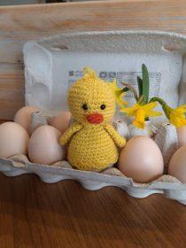 haakpatroon eierwarmer kuiken
