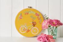 borduurpatroon fiets